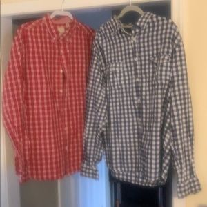 2 for 1 long sleeve button up